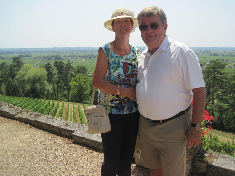 JD and I enjoying the chateaux and wine-tasting..