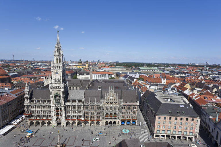 View of Munich City Hall with Marienplatz - Munich