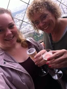 My daughter Rebecca and I toasted our trip to Paris at the Summit with Champagne! , Carolyn Anne M - October 2013