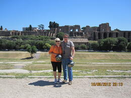 In front of the Paletino and where the romans used to race the charriots , Ursula S - June 2012