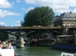 Photo of Paris Seine River Cruise: Sightseeing with Optional Aperitif or Snack Famous  and quot;Lovers' Bridge and quot;