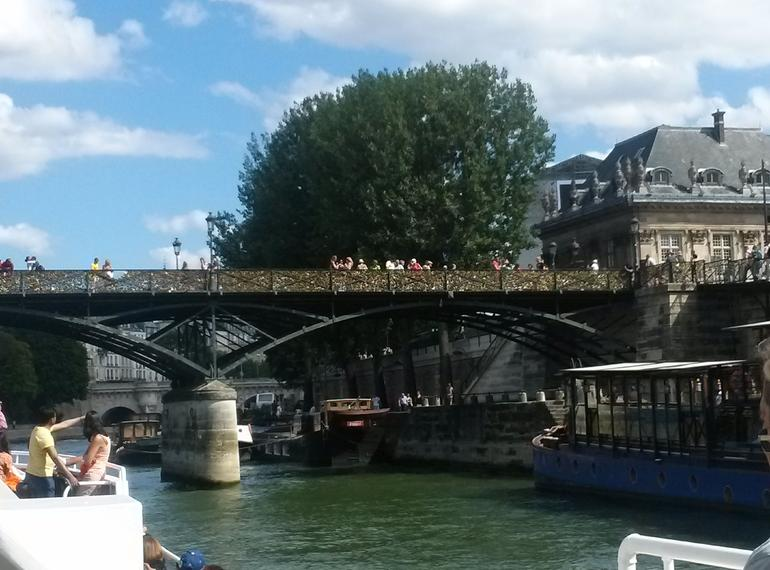 The famous and quot;Lovers' Bridge and quot; on the river Seine.
