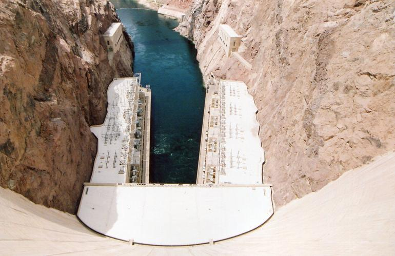 Looking down at Hoover Dam. - Las Vegas