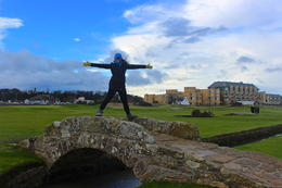 Bridge to the 18th green at St. Andrews old course , Brittany P - February 2014