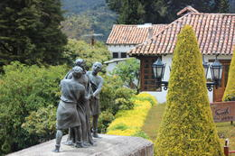 As you walk down, you pass statues representing the twelve stations of the cross., Bandit - September 2012