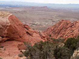 View from the top of my Red Rock Canyon hike , Connie B - November 2013