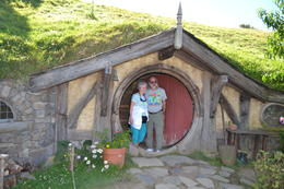 February 22, 2013 - June and Mike Warfield standing in the doorway of a Hobbit Hole during their visit to the Hobbiton movie site. , Michael W - March 2013