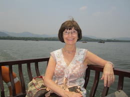 On the West Lake sightseeing cruise., Julie - June 2012