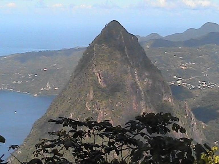 At the top looking north - St Lucia