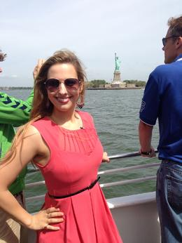 Alicia with the Statue of Liberty - June 2013