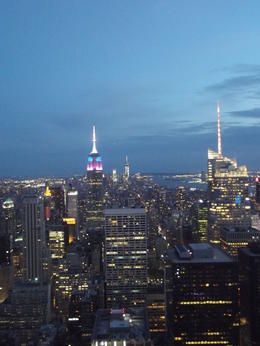 Photo of New York City Top of the Rock Observation Deck, New York debut de nuit