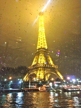 Photo of Paris Bateaux Parisiens Dinner Cruise on the Seine Eiffel Tower in the Rain