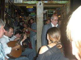 Visiting a local bar for snacks, wine and Fado , Larry S - October 2012