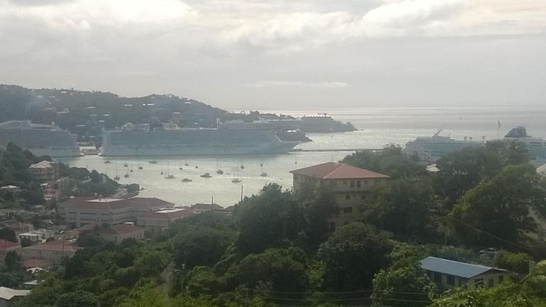 From Sunny Tours of the Norwegian Epic in the port - St Thomas