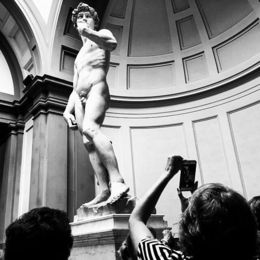 David in Galleria dell'Accademia in Florence. , Eva L - August 2015