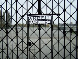 Photo of Munich Dachau Concentration Camp Memorial Small Group Tour from Munich Gate entrance