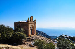 Photo of Barcelona Private Montserrat, Gaudi and Modernism Day Trip from Barcelona Hermit house and view from top, short hike.
