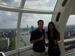 Relaxing while sipping our Champagne on the London Eye, Nick - August 2013