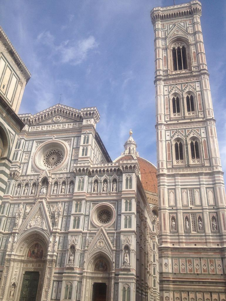 Some of the sites passed on the walking tour. - Florence