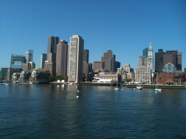 The skyline from the water - Boston