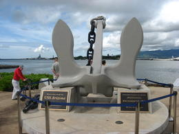 The anchor recovered from the USS Arizona., Bandit - February 2011
