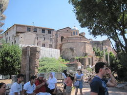 The tour group in visiting the ancient Rome , Mark R - July 2011