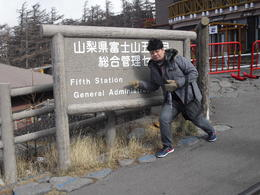 Delighted enough to have reached the 5th station of Mt Fuji.Lucky me. , Imran Wahab - December 2010