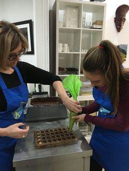 Learning to make pralines -- we are still enjoying them back in Boston! , Jacqueline R - November 2015