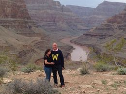 Photo of Las Vegas Viator VIP: Grand Canyon Sunset Helicopter Tour with Dinner me and hubby on trip of lifetime !