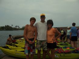 Mom, Dad And Cameron get ready to paddle , Noreen H - August 2015