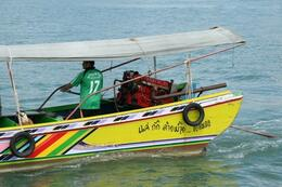 Another thing you ONLY see in Thailand, these boats with big ol' V8 car engines. , RobC - December 2010