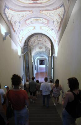 Photo of Florence Skip the Line: Boboli Gardens with Vasari Corridor Tour Our first steps inside the secret part of the Vasari Corridor.