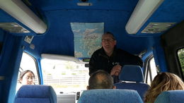 Sandy providing an update on where we'll be heading next on our tour. , Juha L - June 2015