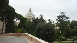 Photo of Rome Skip the Line: Vatican Museums Small-Group Tour including Sistine Chapel and St Peter's Basilica View of St Peters from within the Vatican