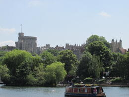 View of the castle from the bike path along the Thames. , Chloe` - July 2014