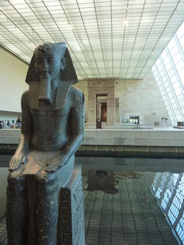 Photo of   At the MET museum  in the Egyptian exhibit