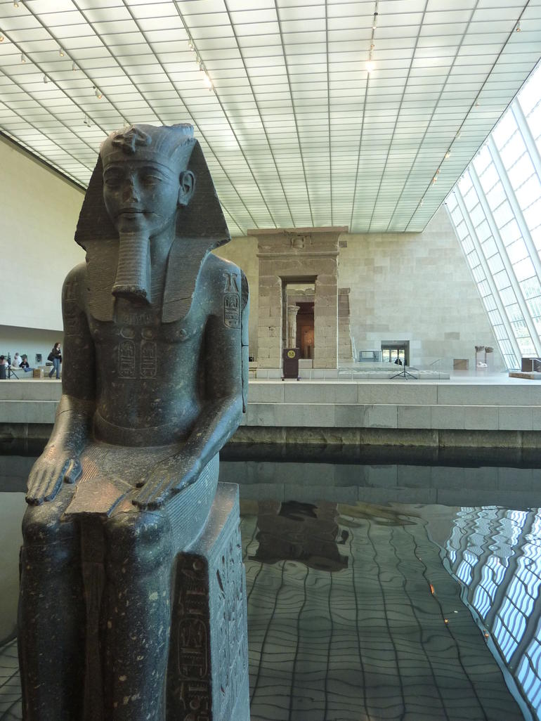At the MET museum  in the Egyptian exhibit - New York City