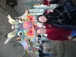 My husband and I by the Chinese Dragon in Alcatraz's Industrial/Laundry building. , Cherrie H - April 2015