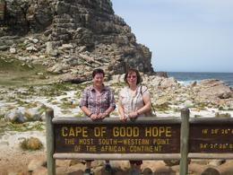 Here we are at the Cape - the most southern point of Africa., Valerie P - October 2009