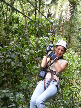 Connie Moulton having a great time zip lining. (Connieis my daughter, she had a great time), Sylvie B - March 2009