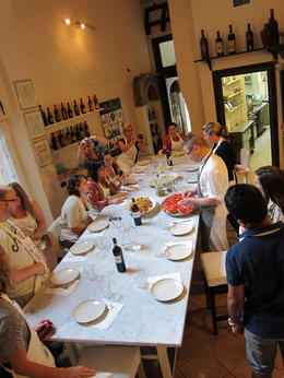 Photo of Florence Small-Group Italian Cooking Class in Florence Dinner is served