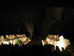 Entry to Karnak Temple by night., Jack Kennedy - August 2010
