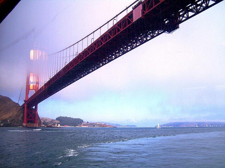 Going under the Golden Gate bridge - San Francisco