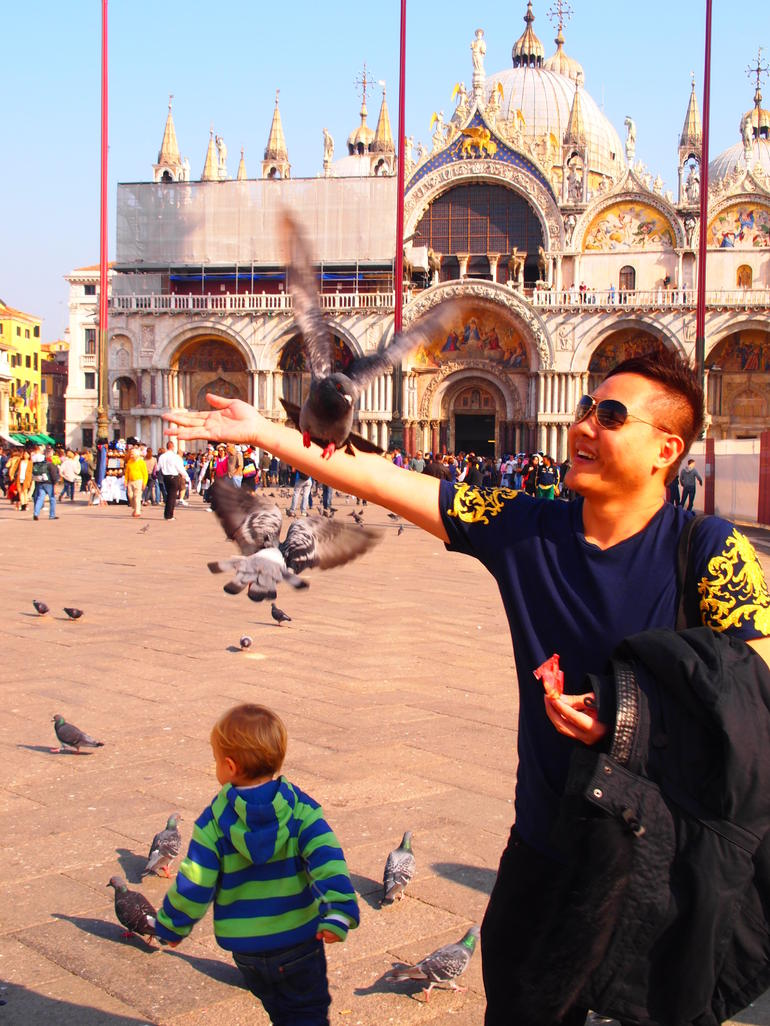 Having Fun at St Mark Sq - Venice