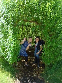 Rowena and I in the garden at Anne Hathaway's! - July 2008