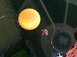 "Photo of Melbourne Yarra Valley Balloon Flight at Sunrise Looking Back Down at the ""Launch Pad"""