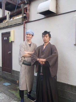 In the middle of the tour, nice to meet the Ninja and quot;warrior and quot; , Loeki P - October 2013