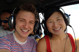On the helicopter!, Jules & Brock - September 2012
