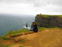 its me... in the edge of the Cliffs of Moher. It was one of the coldests days in my life- im used to 30degrees in my home city in Monterrey, Mexico. , Luz Angelica B - December 2013