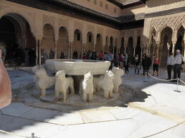 Photo of Malaga Granada Day Trip from Malaga, including the Alhambra Palace and Generalife Gardens Recently restored fountain